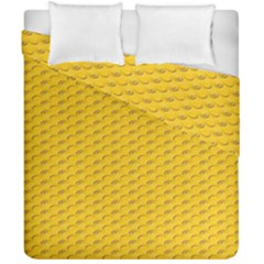 Yellow Dots Pattern Duvet Cover Double Side (california King Size) by BangZart