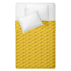 Yellow Dots Pattern Duvet Cover Double Side (single Size) by BangZart