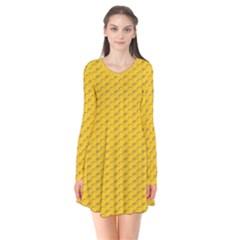 Yellow Dots Pattern Flare Dress by BangZart