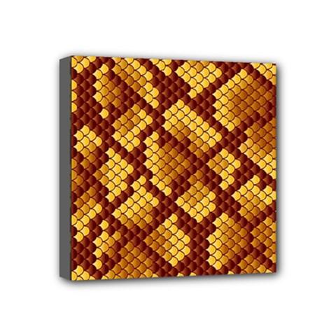 Snake Skin Pattern Vector Mini Canvas 4  X 4  by BangZart