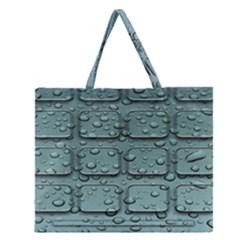 Water Drop Zipper Large Tote Bag by BangZart