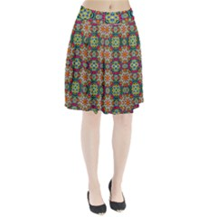 Jewel Tiles Kaleidoscope Pleated Skirt by WolfepawFractals