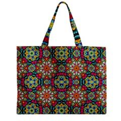 Jewel Tiles Kaleidoscope Medium Tote Bag by WolfepawFractals