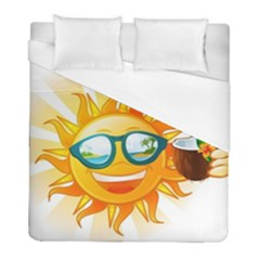 Cartoon Sun Duvet Cover (full/ Double Size) by LimeGreenFlamingo