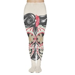 Woman Sugar Skull Women s Tights by LimeGreenFlamingo