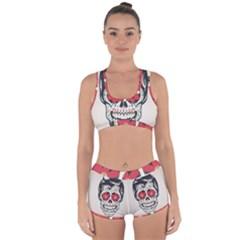 Man Sugar Skull Racerback Boyleg Bikini Set