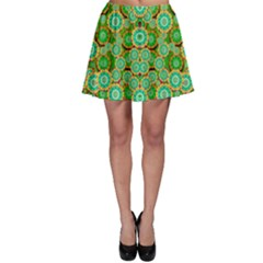 Flowers In Mind In Happy Soft Summer Time Skater Skirt by pepitasart