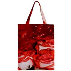 Nice Rose With Water Zipper Classic Tote Bag by BangZart