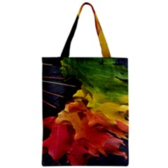 Green Yellow Red Maple Leaf Zipper Classic Tote Bag