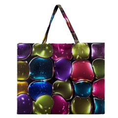 Stained Glass Zipper Large Tote Bag by BangZart