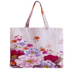 Sweet Flowers Zipper Mini Tote Bag by BangZart