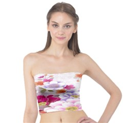 Sweet Flowers Tube Top by BangZart