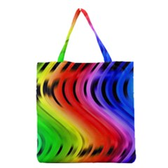 Colorful Vertical Lines Grocery Tote Bag by BangZart