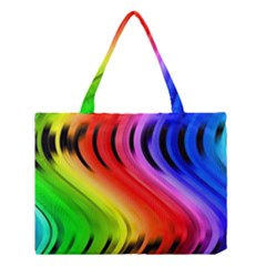 Colorful Vertical Lines Medium Tote Bag by BangZart