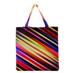 Funky Color Lines Grocery Tote Bag by BangZart