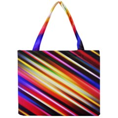 Funky Color Lines Mini Tote Bag by BangZart