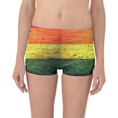 Five Wall Colour Boyleg Bikini Bottoms by BangZart