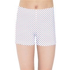 USA Flag Red and Flag Blue Stars Kids Sports Shorts by PodArtist
