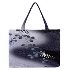 Abstract Black And Gray Tree Medium Zipper Tote Bag by BangZart