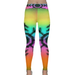 Vector Snowflake Classic Yoga Leggings