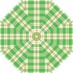Abstract Green Plaid Straight Umbrellas by BangZart