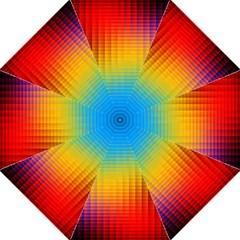 Blurred Color Pixels Hook Handle Umbrellas (medium) by BangZart
