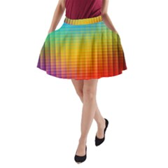 Blurred Color Pixels A Line Pocket Skirt by BangZart