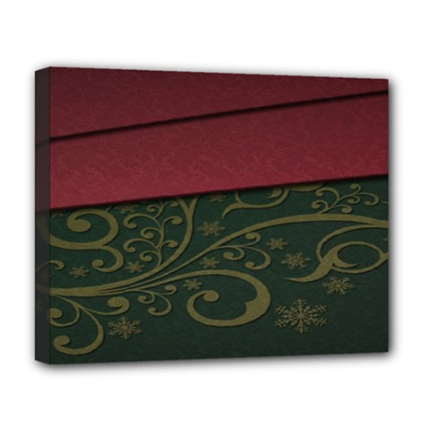 Beautiful Floral Textured Deluxe Canvas 20  X 16   by BangZart