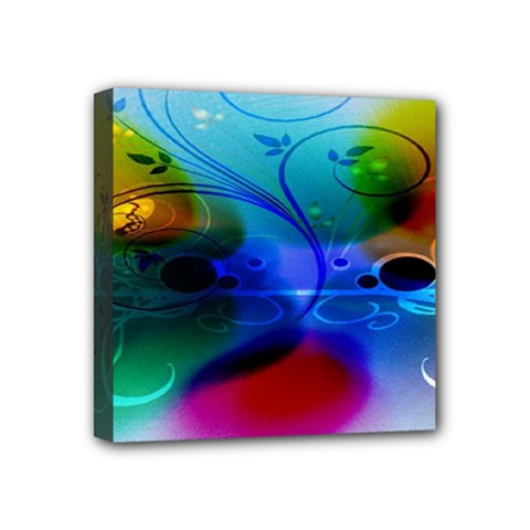 Abstract Color Plants Mini Canvas 4  X 4  by BangZart