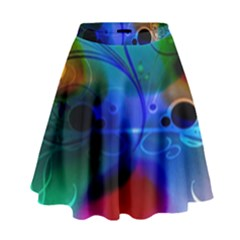 Abstract Color Plants High Waist Skirt by BangZart