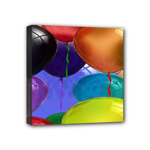 Colorful Balloons Render Mini Canvas 4  x 4  by BangZart