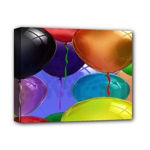 Colorful Balloons Render Deluxe Canvas 14  X 11  by BangZart