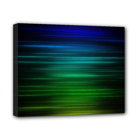 Blue And Green Lines Canvas 10  X 8  by BangZart