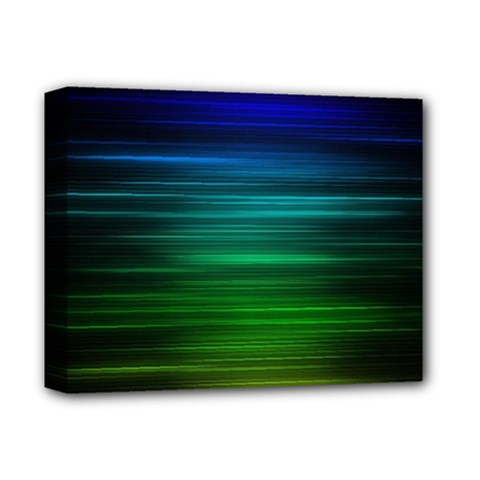 Blue And Green Lines Deluxe Canvas 14  X 11  by BangZart