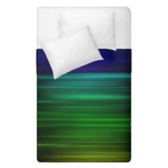 Blue And Green Lines Duvet Cover Double Side (single Size) by BangZart