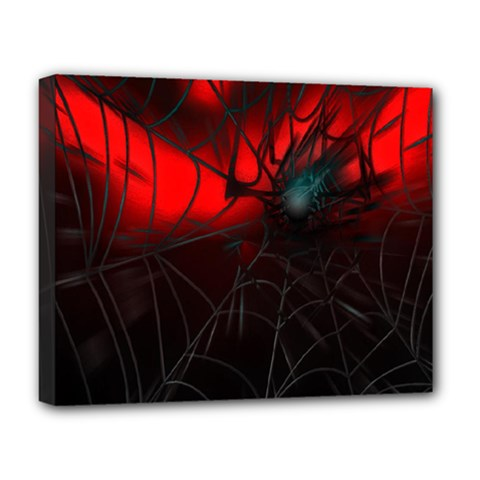 Spider Webs Deluxe Canvas 20  X 16   by BangZart