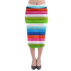 Colorful Plasticine Midi Pencil Skirt by BangZart