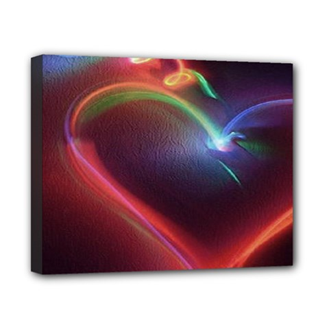 Neon Heart Canvas 10  X 8  by BangZart