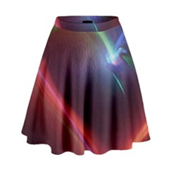Neon Heart High Waist Skirt by BangZart