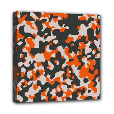 Camouflage Texture Patterns Mini Canvas 8  X 8  by BangZart