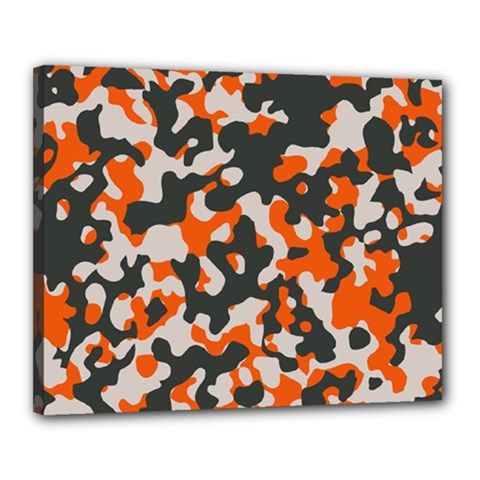 Camouflage Texture Patterns Canvas 20  X 16  by BangZart