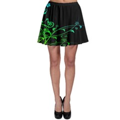 Abstract Colorful Plants Skater Skirt by BangZart