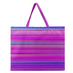 Cool Abstract Lines Zipper Large Tote Bag by BangZart