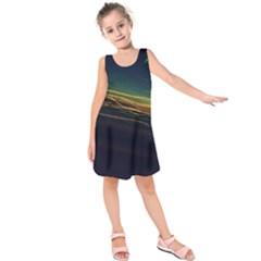 Night Lights Kids  Sleeveless Dress by BangZart