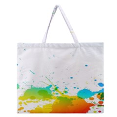 Colorful Abstract Zipper Large Tote Bag by BangZart