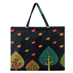 Vector Color Tree Zipper Large Tote Bag by BangZart