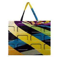 Colorful Docking Frame Zipper Large Tote Bag by BangZart