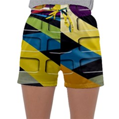 Colorful Docking Frame Sleepwear Shorts