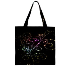 Sparkle Design Zipper Grocery Tote Bag by BangZart