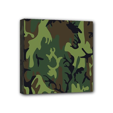 Military Camouflage Pattern Mini Canvas 4  X 4  by BangZart